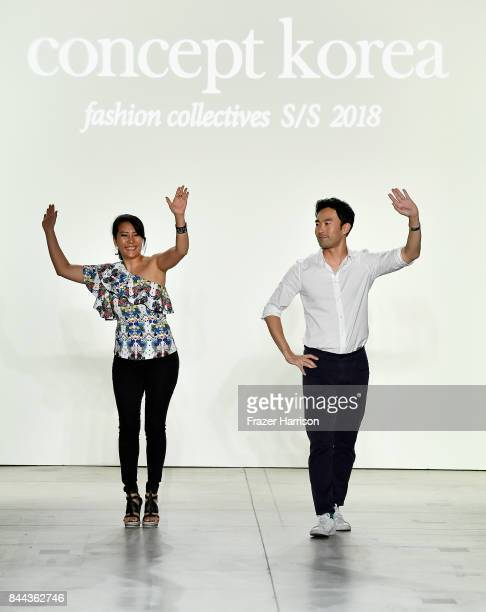 Designers Younhee Park and Lee Chung Chung on the runway for Concept Korea Fashion Show during New York Fashion Week The Shows at Gallery 2 Skylight...