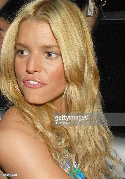 "Designer/singer Jessica Simpson seen around at ""Mercedes Benz Fashion Week: Miami Swim"" at the Raleigh Hotel on July 14, 2007 in Miami Beach.Photo by..."