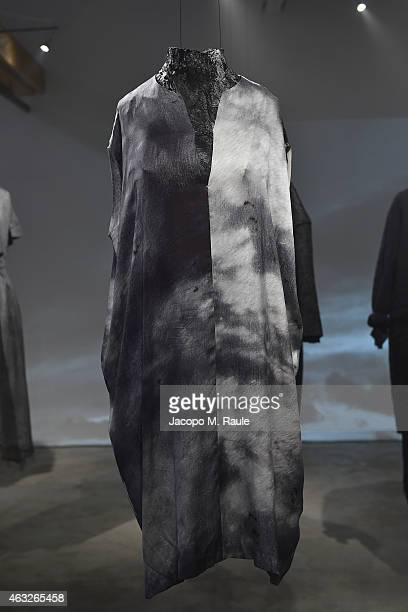 Designs are displayed in the Pas De Calais presentation during MercedesBenz Fashion Week Fall 2015 on February 12 2015 in New York City