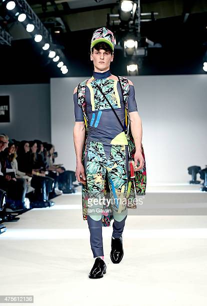 Designs by Andrea Gosh of the Universidad CENTRO Mexico on day 4 of Graduate Fashion Week sponsored by George at Asda at The Old Truman Brewery on...
