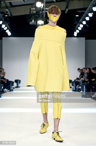 Designs by Bibiana P Colmenares of the Universidad CENTRO Mexico on day 4 of Graduate Fashion Week sponsored by George at Asda at The Old Truman...