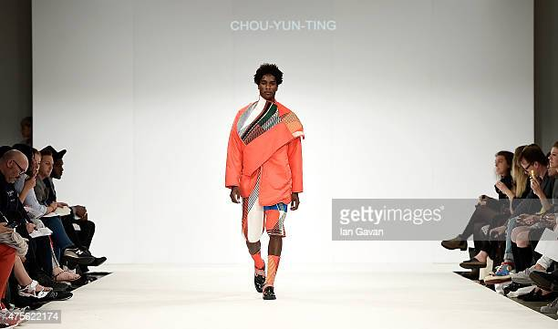 Designs by ChouYunTing at the Samsonite International Catwalk Competition during day 4 of Graduate Fashion Week sponsored by George at Asda at The...