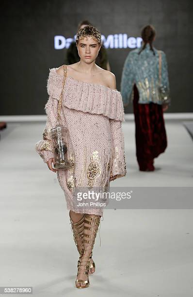 Designs by Daisy Miller of Liverpool John Moores during Graduate Fashion Week 2016 at The Truman Brewery on June 5 2016 in London England