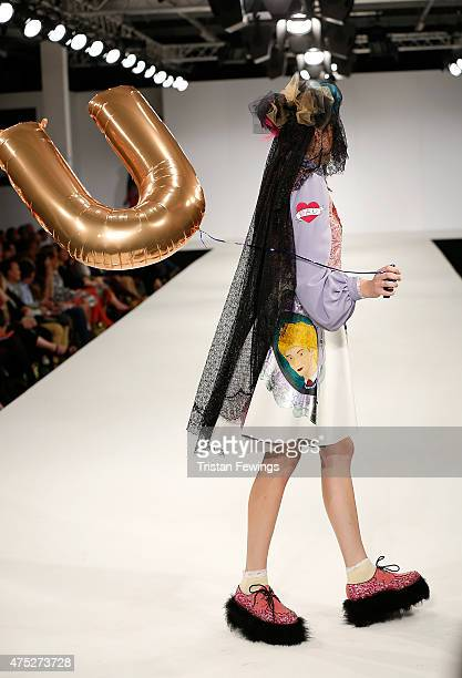 Designs by Lauren Ward of UCA Rochester on day 1 of Graduate Fashion Week at The Old Truman Brewery on May 30 2015 in London England