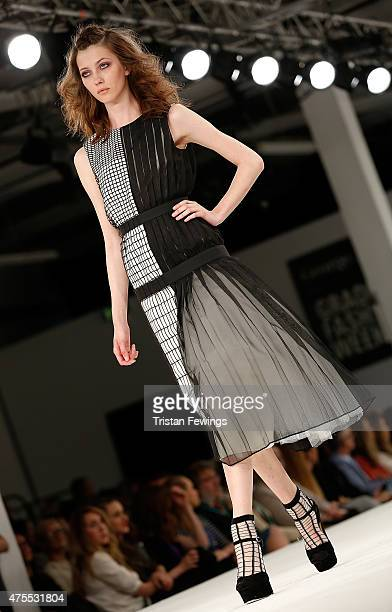 Designs by Lili Liu of Nottingham Trent University on day 3 of Graduate Fashion Week at The Old Truman Brewery on June 1 2015 in London England