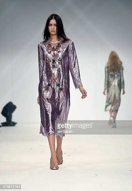Designs by Maria Fernanda B Perez Diaz of the Universidad CENTRO Mexico on day 4 of Graduate Fashion Week sponsored by George at Asda at The Old...