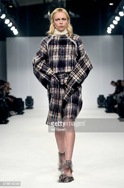 Designs by Paula Grieve of the Universidad CENTRO Mexico on day 4 of Graduate Fashion Week sponsored by George at Asda at The Old Truman Brewery on...