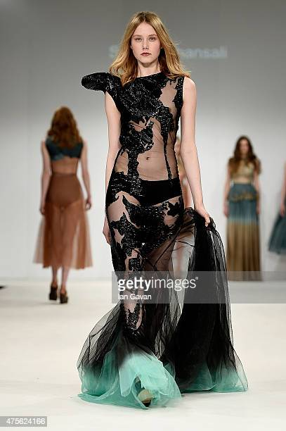 Designs by Sanket Bhansali at the Samsonite International Catwalk Competition during day 4 of Graduate Fashion Week sponsored by George at Asda at...