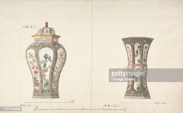Designs for Two Porcelain Vases circa 177085 Artist Anon