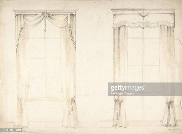 Designs for Two Sets of Curtains 184184 Artist Charles Hindley Sons