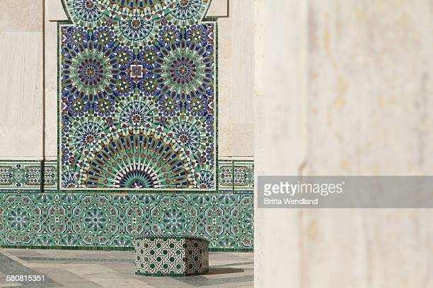 Designs on wall of Hassan II Mosque