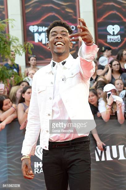 Desiigner arrives at the 2016 iHeartRADIO MuchMusic Video Awards at MuchMusic HQ on June 19 2016 in Toronto Canada