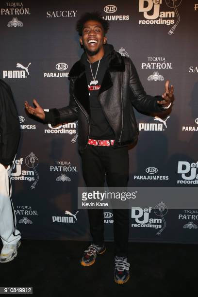 Desiigner attends Def Jam's PreGRAMMY Celebration Presented by Patron Tequila with Parajumpers Puma Saucey and Heineken at the Garage on January 26...