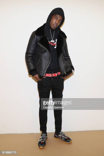 Desiigner attends the Def Jam's PreGRAMMY Celebration Presented by Patron Tequila with Parajumpers Puma Saucey and Heineken at the Garage on January...