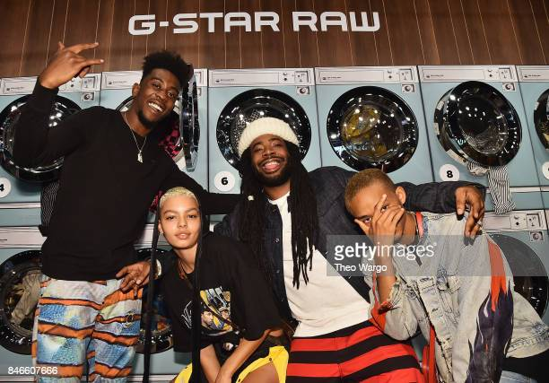 Desiigner India Graham DRAM and Jaden Smith attend the Pharrell Williams And GStar RAW Present The New GStar Elwood X25 Prints New York Fashion Week...