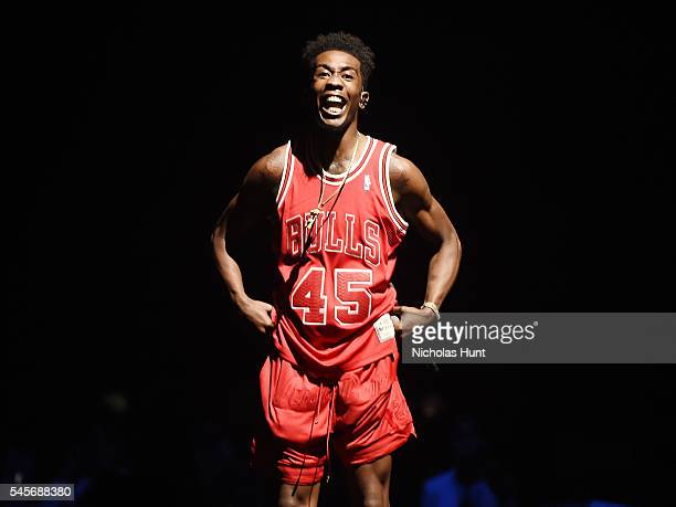 Desiigner performs during the '2016 Honda Civic Tour Featuring Demi Lovato Nick Jonas Future Now' tour at the Barclays Center on July 8 2016 in New...