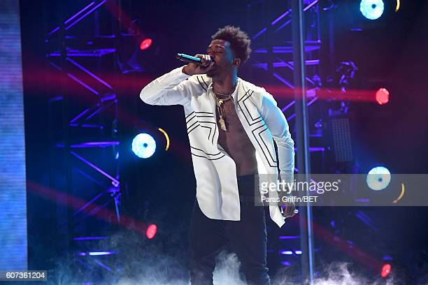 Desiigner performs onstage during the 2016 BET Hip Hop Awards at Cobb Energy Performing Arts Center on September 17 2016 in Atlanta Georgia