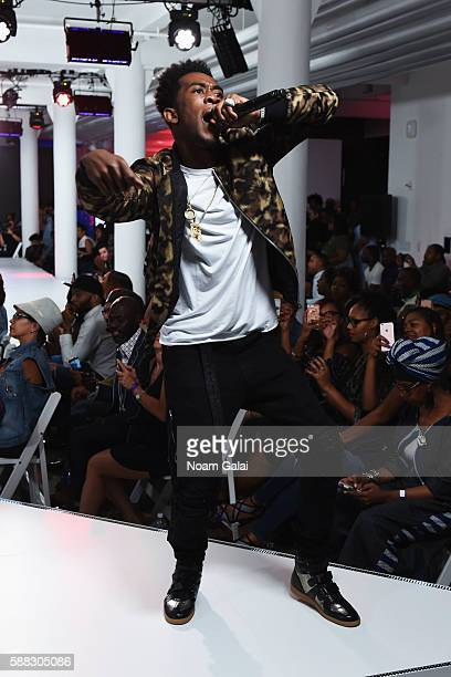 Desiigner performs onstage from the runway during the BET How To Rock Denim show at Milk Studios on August 10 2016 in New York City