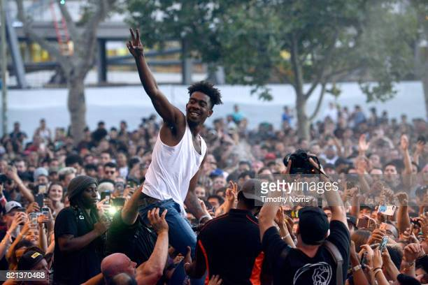 Desiigner performs onstage on day 3 of FYF Fest 2017 at Exposition Park on July 23 2017 in Los Angeles California