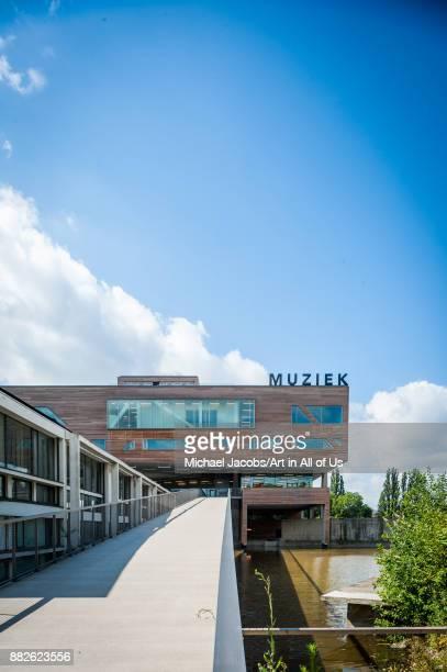 deSingel international arts center desigmed by Renaat Braem home to the Conservatorium van Antwerpen Posthogeschool voor Podiumkunsten APT Vlaams...