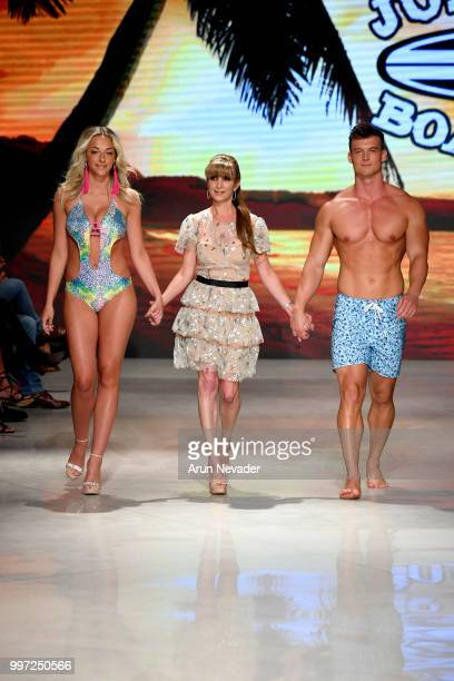 Desinger Jennifer Weisman and models walk the runway for Just Bones Boardwear at Miami Swim Week powered by Art Hearts Fashion Swim/Resort 2018/19 at...