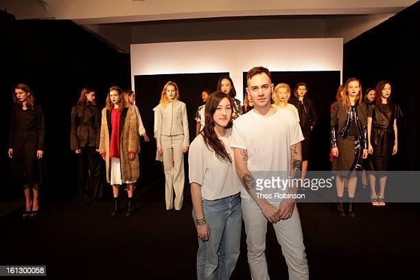 Desingers Ava Hama and Nolan Bellavance attend Bellavance Presentation MADE For Peroni Young Designer Award Winner at Milk Studios on February 9 2013...