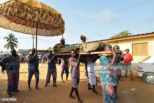 Desire Amon Tanoe the King of the N'Zima Kotoko and President of the Directory of the Chamber of Kings and traditional leaders of Ivory Coast is...