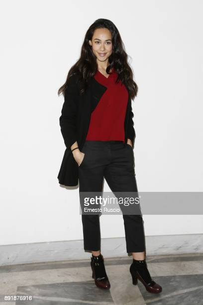 Desire Noferini attends Simone Belli Christmas Beauty Day on December 13 2017 in Rome Italy