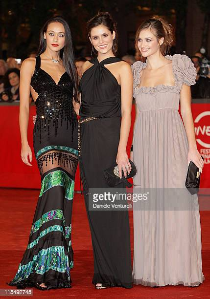 Desire Noferini Chiara Chiti and Nadir Caselli attend the A Game For Girls Premiere during the 3rd Rome International Film Festival held at the...
