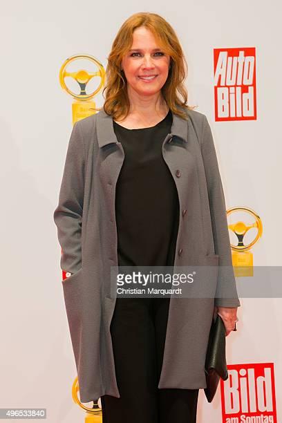Desire Nosbusch attends the red carpet during the 'Goldenes Lenkrad' Award 2015 at Axel Springer Haus on November 10 2015 in Berlin Germany