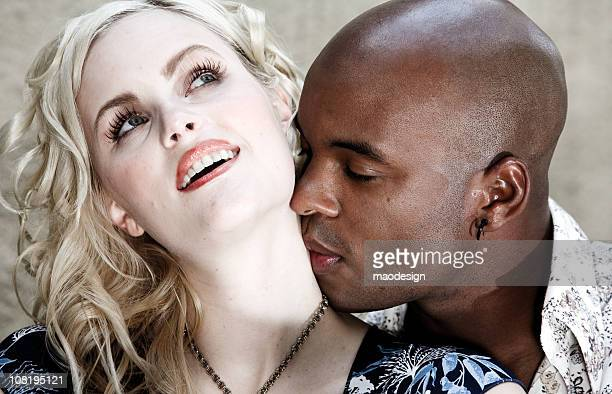 desire - black people kissing stock pictures, royalty-free photos & images