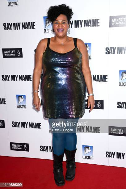 Desiree Birch attends the Say My Name Gala Screening at Odeon Luxe Leicester Square on April 23 2019 in London England