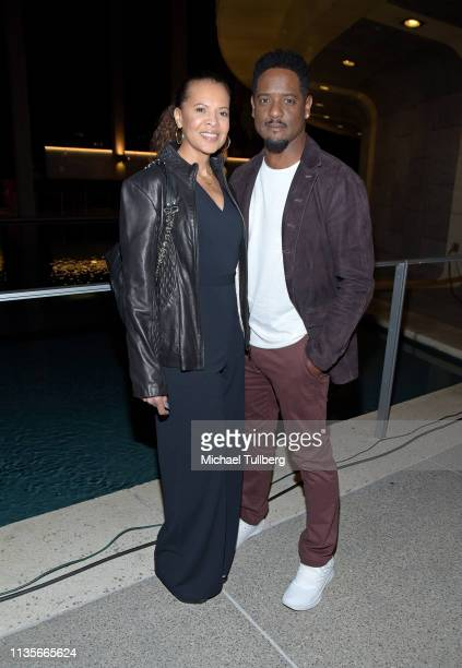 Desiree DaCosta and Blair Underwood attend the opening night of Lackawanna Blues at Mark Taper Forum on March 13 2019 in Los Angeles California