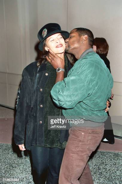 Desiree DaCosta and Blair Underwood during HBO's Screening of Cosmic Slop at Mann Village Theater in Westwood CA United States