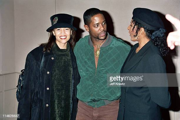 Desiree DaCosta Blair Underwood and Pam Grier during HBO's Screening of Cosmic Slop at Mann Village Theater in Westwood CA United States