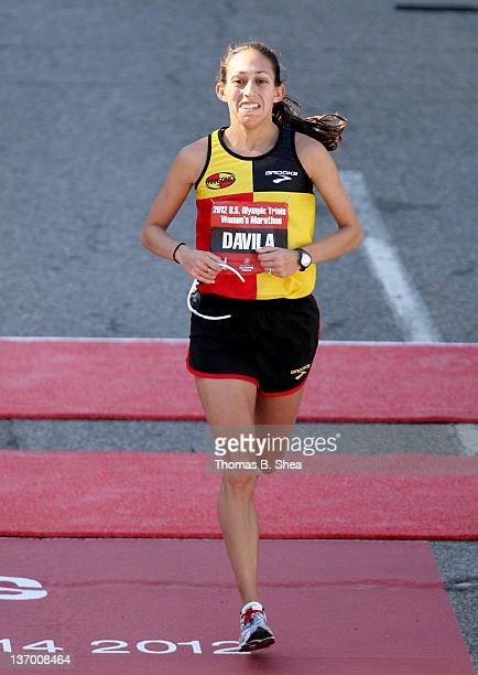 Desiree Davila who finished with a time of 22555 competes in the US Marathon Olympic Trials January 14 2012 in Houston Texas