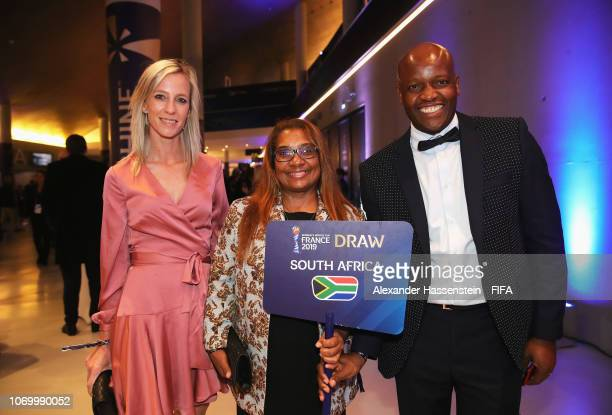 Desiree Ellis coach of South Africa arrives for the FIFA Women's World Cup France 2019 Draw at La Seine Musicale on December 8 2018 in Paris France