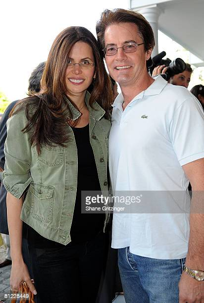 Desiree Gruber and Actor Kyle MacLachlan attend the Annual Hamptons Magazine Memorial Day Celebration with Cover Star Kim Cattrall on May 24 2008 in...