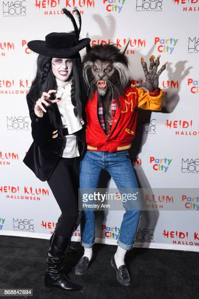 Desiree Gruber and Heidi Klum attend Heidi Klum's 18th Annual Halloween Party at Magic Hour Rooftop Bar Lounge on October 31 2017 in New York City