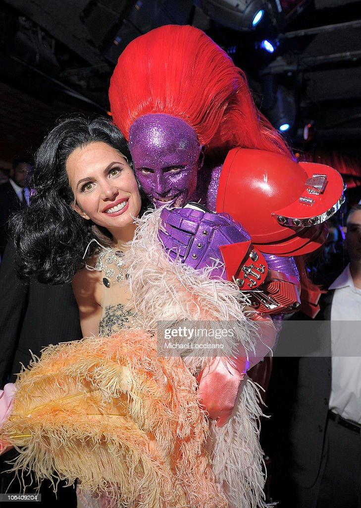 Desiree Gruber and Heidi Klum attend the Heidi Klum's Halloween Party presented by AOL and Absolut Vodka at Lavo on October 31, 2010 in New York City.