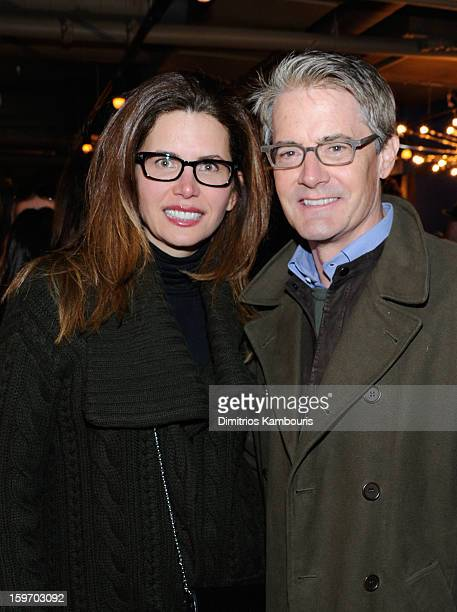 Desiree Gruber and Kyle MacLachlan attend Day 1 of Village at The Lift 2013 on January 18 2013 in Park City Utah