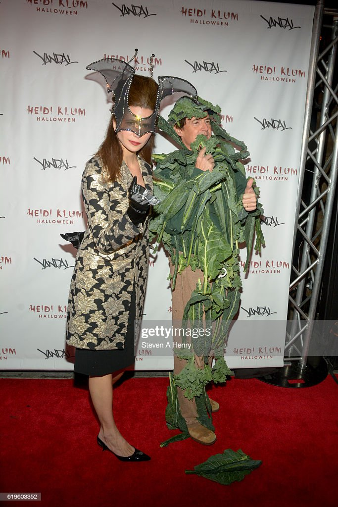 Desiree Gruber and Kyle MacLachlan attend Heidi Klum's 17th Annual Halloween Party at Vandal on October 31, 2016 in New York City.