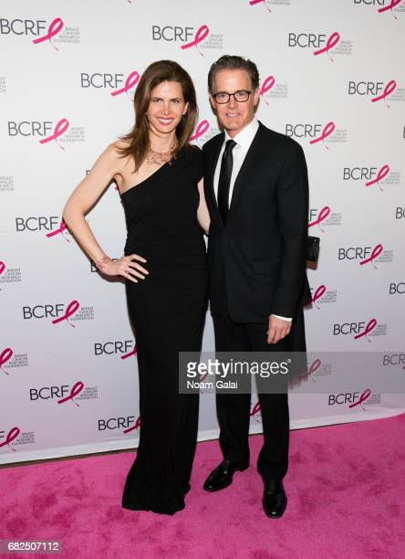 Desiree Gruber and Kyle MacLachlan attend the 2017 Breast Cancer Research Foundation Hot Pink Party at Park Avenue Armory on May 12 2017 in New York...