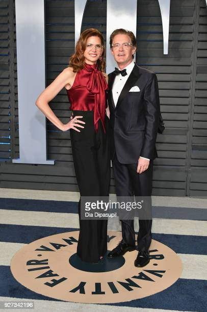 Desiree Gruber and Kyle MacLachlan attend the 2018 Vanity Fair Oscar Party hosted by Radhika Jones at Wallis Annenberg Center for the Performing Arts...