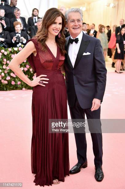 Desiree Gruber and Kyle MacLachlan attend The 2019 Met Gala Celebrating Camp: Notes on Fashion at Metropolitan Museum of Art on May 06, 2019 in New...