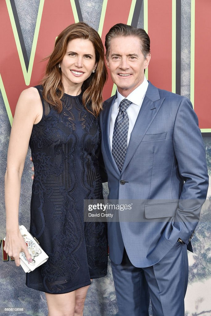 Desiree Gruber and Kyle MacLachlan attend the World Premiere Of Showtime's 'Twin Peaks' at The Theatre at Ace Hotel on May 19, 2017 in Los Angeles, California.
