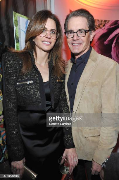 Desiree Gruber and Kyle MacLachlan attend W Magazine's Celebration of its 'Best Performances' Portfolio and the Golden Globes with Audi Dior and Dom...