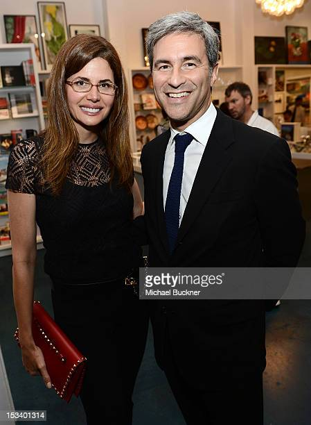 Desiree Gruber and Michael Govan attend the Director's Circle Celebration of WEAR LACMA Inaugural Designs by Johnson Hartig For Libertine And Gregory...