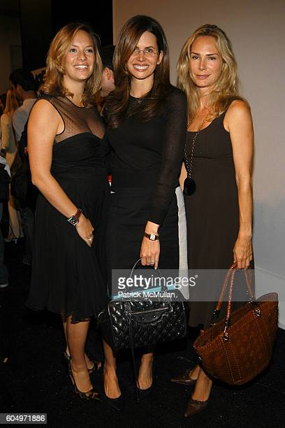 Desiree Gruber and Valesca GuerrandHermes attend LUCA LUCA Spring 2007 Fashion Show at The Promenade at Bryant Park on September 11 2006 in New York...