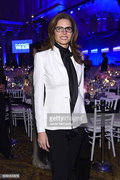 Desiree Gruber attends the 2016 amfAR New York Gala at Cipriani Wall Street on February 10 2016 in New York City